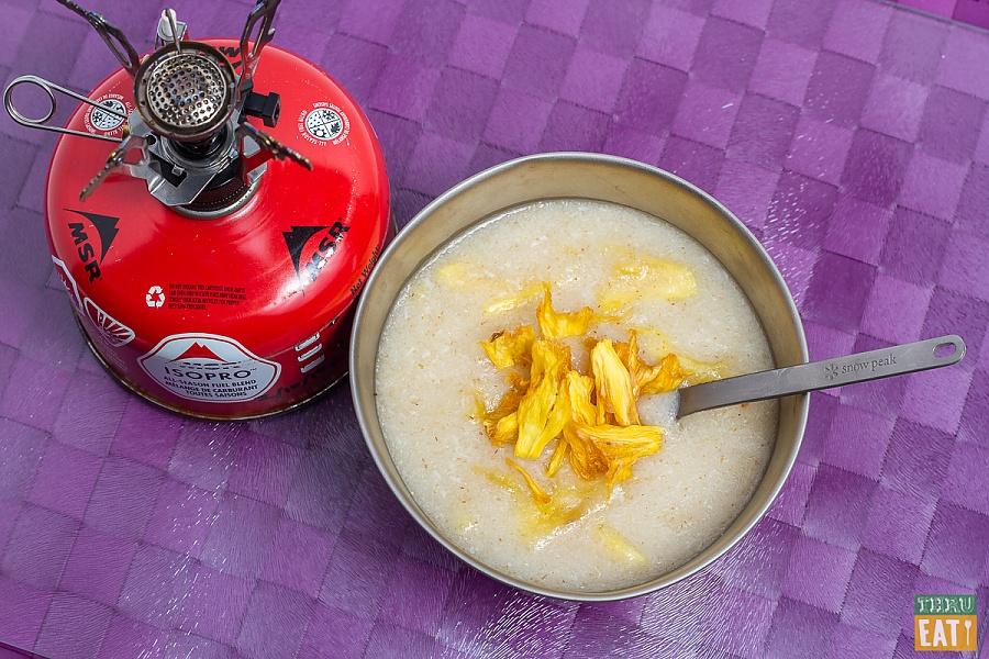 piña colada cream of wheat backpacking recipe