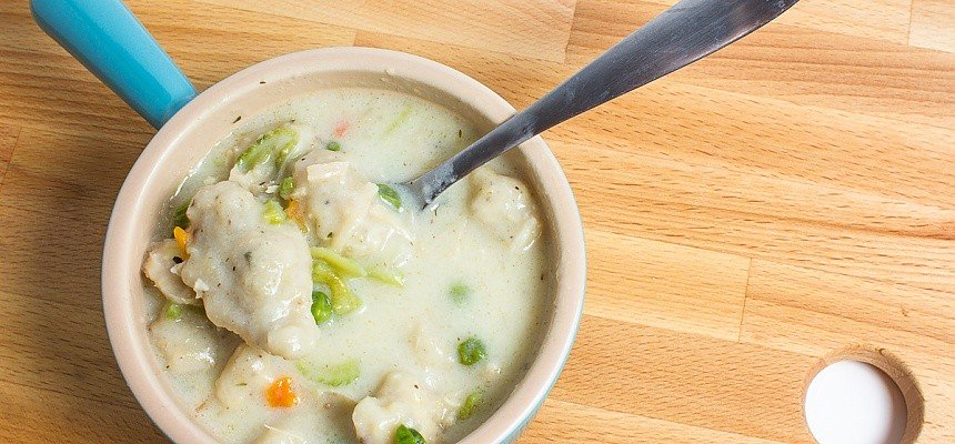 Dehydrated chicken and dumplings