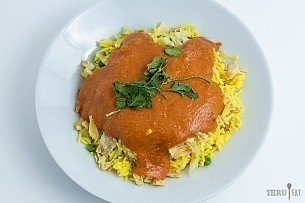 Dehydrated chicken tikka masala for backpacking